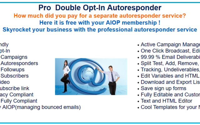 AIOP autoresponder advantadges